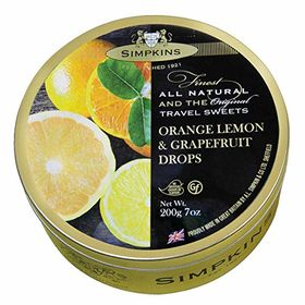 Simpkins Orange, Lemon and Grapefruit Drops, 200g