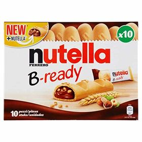 Ferrero Nutella B-Ready 10 Bars (10 X 22g), 220g