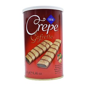 Cizmeci Time Crepe Gofrette, Wafers with Hazelnut Cream - 240g (8.46oz)
