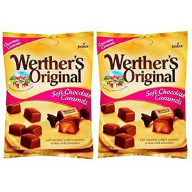 Storck Werther's Original Soft Chocolate Caramels, Pack of 2, 100g Each