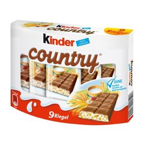 Ferrero Kinder Country Milk Chocolate with Cereal Bar Box (9 X 23.5 g) 211.5 g