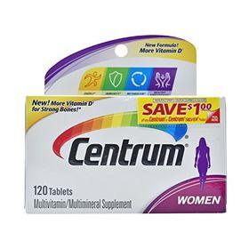 Centrum Multivitamin Supplement, Women - 120 Tablets
