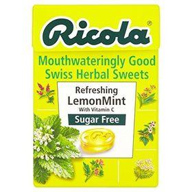 Ricola LemonMint Sugar Free Mint Drops, 45g (Pack of 5)