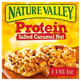 Nature Valley Protein Salted Caramel Nut Cereal Bar 4 X 40g, 160g
