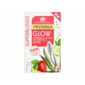 Twinings Superblends Glow Strawberry and Cucumber with Green Tea and Aloe Vera, 40 g