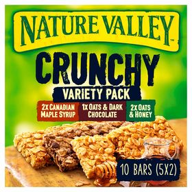 Nature Valley Variety Pack Cereal Bars, 210g (2xCanadian Maple Syrup+1xOats & Dark Chocolate+2xOats & Honey Bars)
