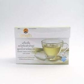 DOI Kham Instant Lemon Grass Drink Mix Less Sugar Box, (12 X 10g), 120g