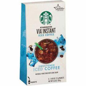 Starbucks VIA Instant Iced Coffee Sweetened Box ( 6 X 27g ), 160g
