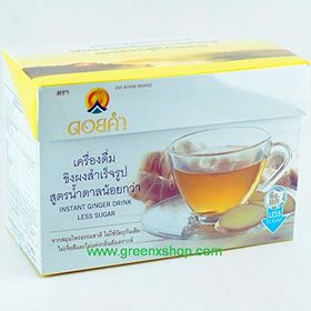 DOI Kham Instant Ginger Drink Mix Less Sugar Box (12 X 9g), 108g