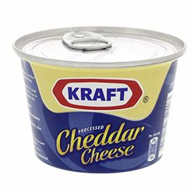Kraft Processed Cheddar Cheese Tin - 190g (Pack of 4)
