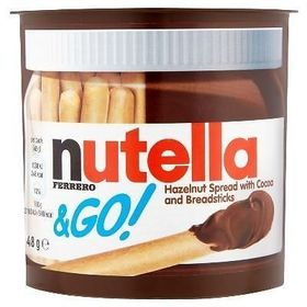 Nutella Ferrero & Go Hazelnut Spread with Cocoa & Breadsticks - 48g