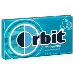 ORBIT Wrigleys Wintermint Sugar-free Gum (14 Piece Each) -Pack of 2