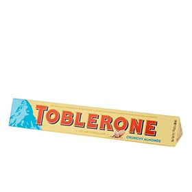 Toblerone Swiss Milk Chocolate With Honey & Almond Nougat & Salted Caramelised & Crunchy Almond, 100g (Pack of 2)
