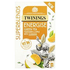 Twinings Energise Green Tea Mandarin & Apple With Guarana 20 Bags