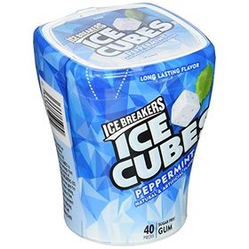 Ice Breakers Icebreakers Ice Cubes Peppermint Sugar-free Chewing Gum, 40 Count