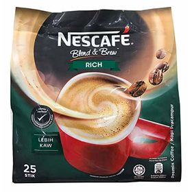 Nestle Nescafé 3 in 1 Rich Blend & Brew Instant Coffee (25 Sticks) Made from Premium Quality Beans