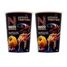 Naked Noodle Japanese Teriyaki Instant Egg Noodle Cup, 78g - Pack of 2