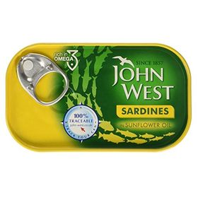 John West Sardines in Sunflower Oil, 120g