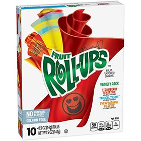 Roll-Ups Fruit Flavored Snacks, Variety Pack -141 g (10 oz)