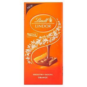 Lindt Lindor Orange Bar, 100g