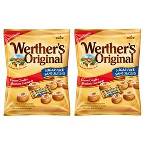 Storck Werther's Original Cream Candies Sugar Free, Pack of 2, 70g Each