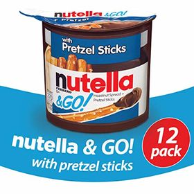 NG Pretzel Pack of 12 Nutella and Go Pretzel 1.9 Oz Each Pack of 12