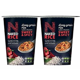 Naked Rice Szechuan Sweet & Spicy Instant Rice Cup,78g - Pack of 2 (Veg)
