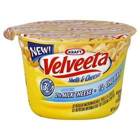 Kraft Macaroni Velveeta Shells & Cheese Made With 2% Milk 1/2 The Fat, 62g