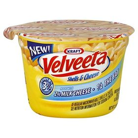 Kraft Macaroni Velveeta Shells & Cheese Made With 2% Milk 1/2 The Fat, 62g