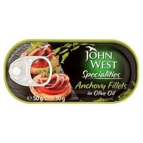 John West Anchovy Fillets in Olive Oil, 50g