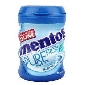 Mentos Pure Fresh Gum, Bottle, Fresh Mint Flavour, 56 g (28 Pieces)