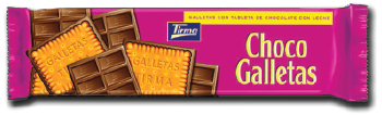 Tirma Made in Spain Choco Galletas Biscuite with Milk Chocolate Bar 160g