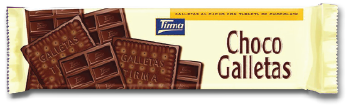 Tirma Made in Spain Choco Galletas Biscuite with White Chocolate Bar 160g