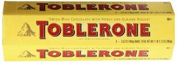 Toblerone Chocolates 6X100 Grms Swiss Milk Chocolate With Honey & Almond Nougat
