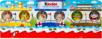 Kinder friends on a boat trip