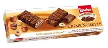Loacker Creme Noisette Milk Chocolate Biscuits with Hazelnut Cream, 100g