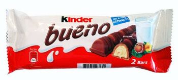 Kinder Bueno Milk & Hazelnut Chocolate Bar 43g (Pack of 2)