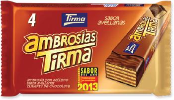 Tirma Made in Spain Ambrosia Wafers Hazelnuts 86g
