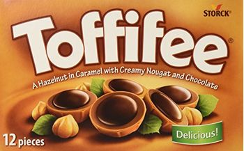Toffifee Storck Hazelnut in Caramel with Creamy Nougat and Chocolate (100g) Pack of 12 Pieces