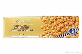 Lindt Swiss Premium Gold Milk Chocolate Hazelnut Bar, 300g