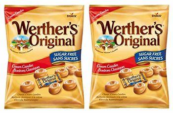 Storck Werther's Original Cream Candies Sugar Free, Pack of 2, 70g Each