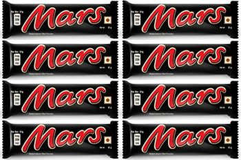 Mars Chocolate Bar, 51g (Pack of 8)
