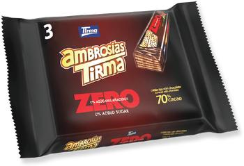 Tirma Made in Spain Ambrosia Zero 70% Cocoa No Sugar Added Chocolates
