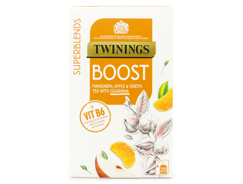 Twinings Superblends Boost Mandarin, Apple & Green Tea with Guarana 20 bags, 40g