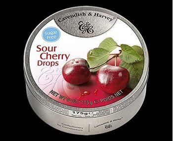 Cavendish and Harvey Sugar-free Sour Cherry Drops, 175 g
