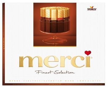 Storck Merci Finest Selection of Assorted Dark Chocolate Box, 200g