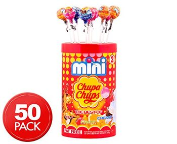 Chupa Chups Mini Assorted Mini Lollipops 50 Unit 300 Grams