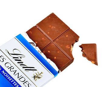Lindt Les Grandes 34% Noisettes, Chocolate Bar 150g