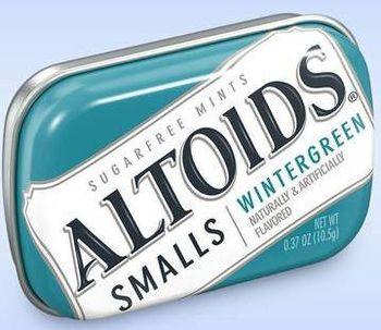 Altoids Smalls Wintergreen Mints Sugar Free (pack of 2), 10.5g
