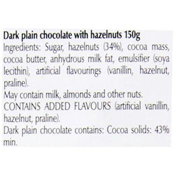 Lindt Les Grandes - 34% Hazelnuts Dark Chocolate, 150 g